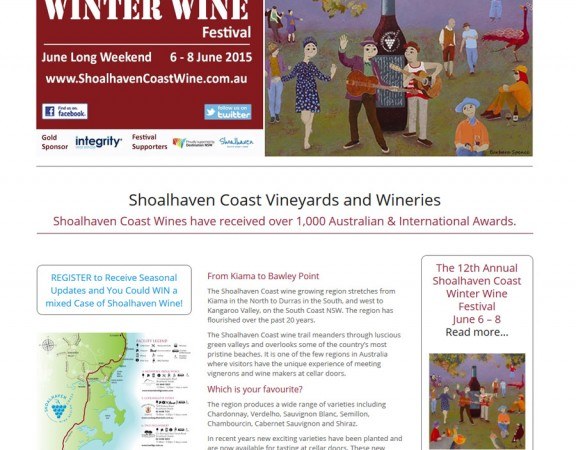 Shoalhaven Coast Wine Association, webdesign, hosting and support by 8WEB