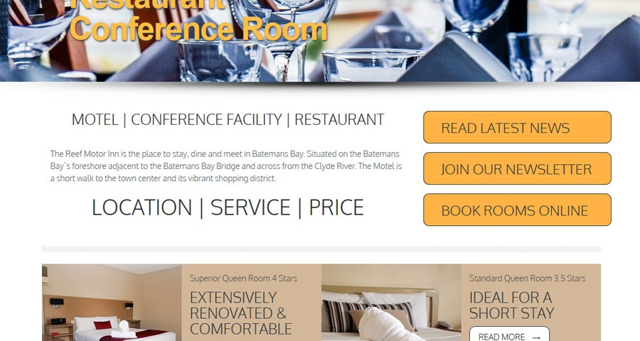 Reef Motor Inn Batemans Bay - webdesign, hosting and social media management by 8WEB
