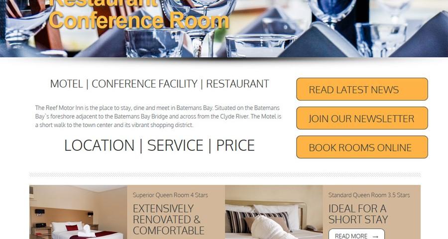 Reef Motor Inn Batemans Bay - webdesign, hosting and social media management by 8WEB