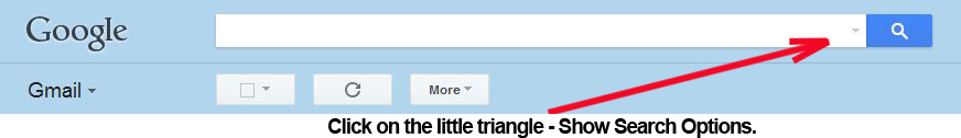 Click on the little triangle - Show Search Options.