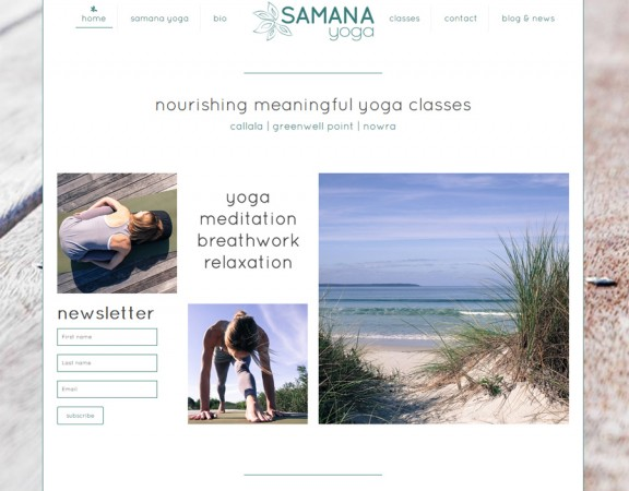 Samana Yoga, yoga Callala Nowra Jervis Bay - responsive webdesign by 8WEB