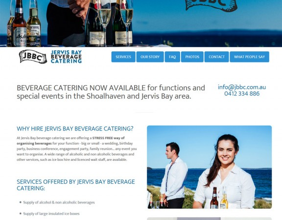 Jervis Bay Bevarage Catering on South Coast NSW - responsive webdesing by 8WEB