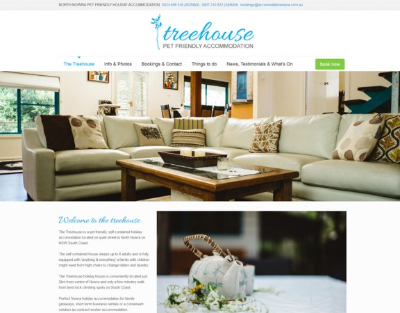 nowra webdesign - accommodation website design nowra online booking calendar