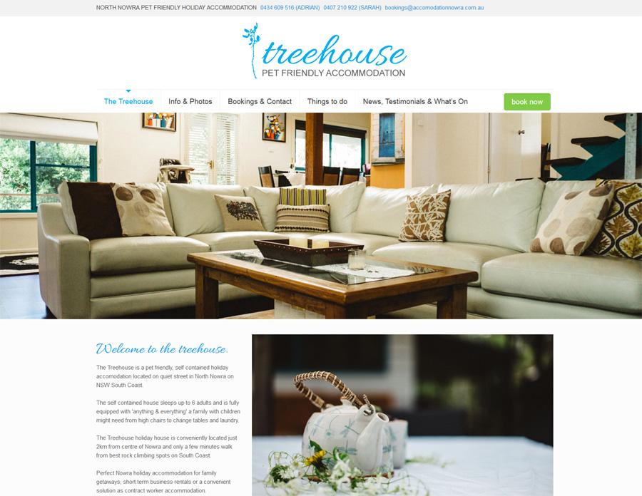 accommodation website design nowra online booking calendar