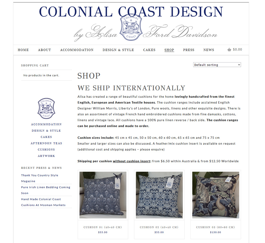 sydney wordpress webdesign with ecommerce