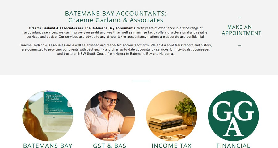 Batemans Bay Accountants new website built by 8WEB