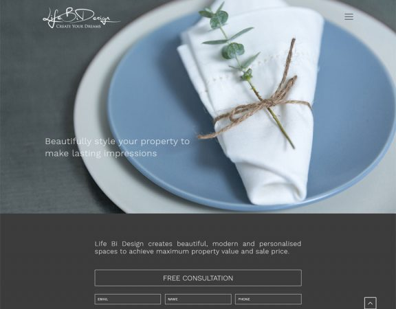 LIfe Bi Design website created by 8WEB