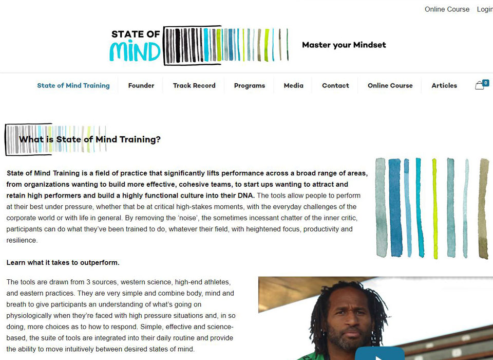 state of mind sydney mind training website by 8web
