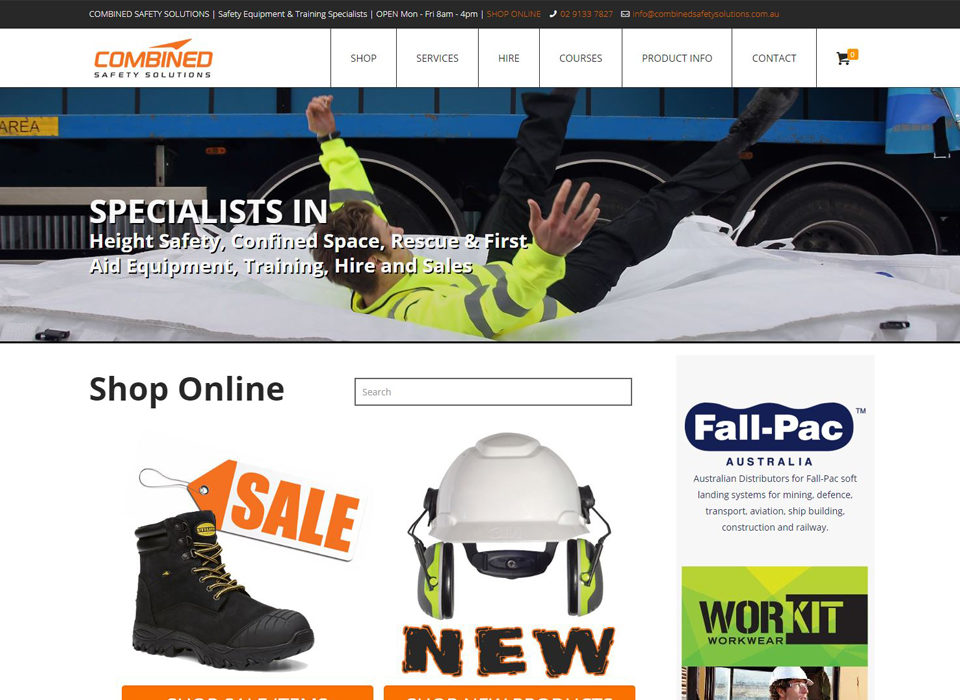 website by 8web for combined safety solutions