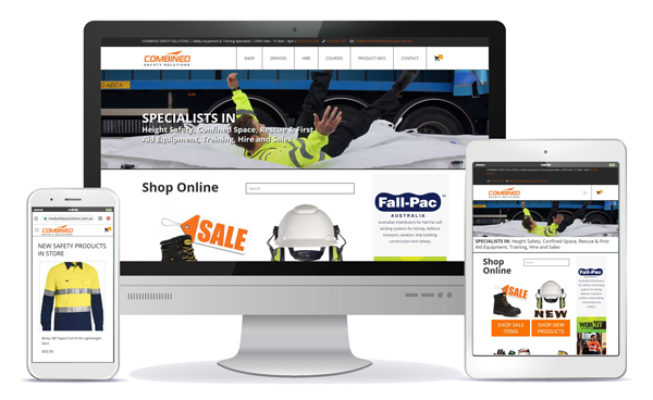 combined safety solutions responsive website