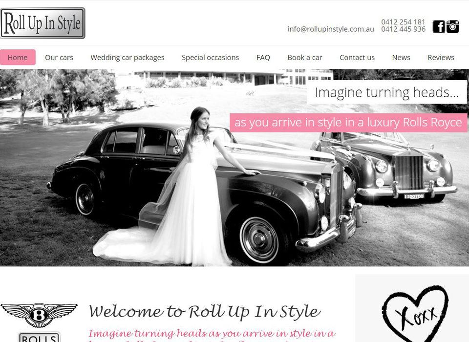 wedding car website by 8web