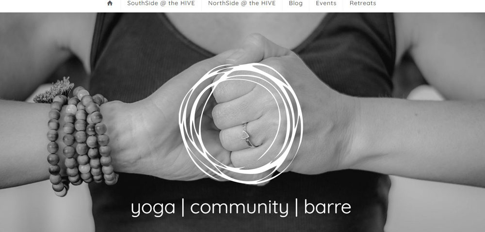 yoga hive wollongong website by 8web